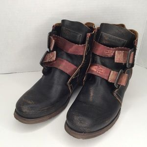 Fly London Ska distressed combat boots